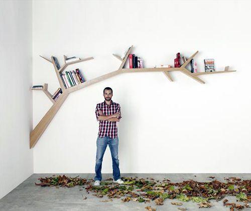 Tree art shelving unit