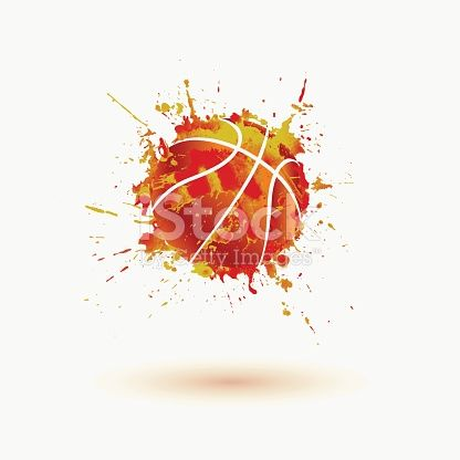 Basketball Ball Vector Watercolor Splash バスケットボール 水彩 スヌーピー アイコン