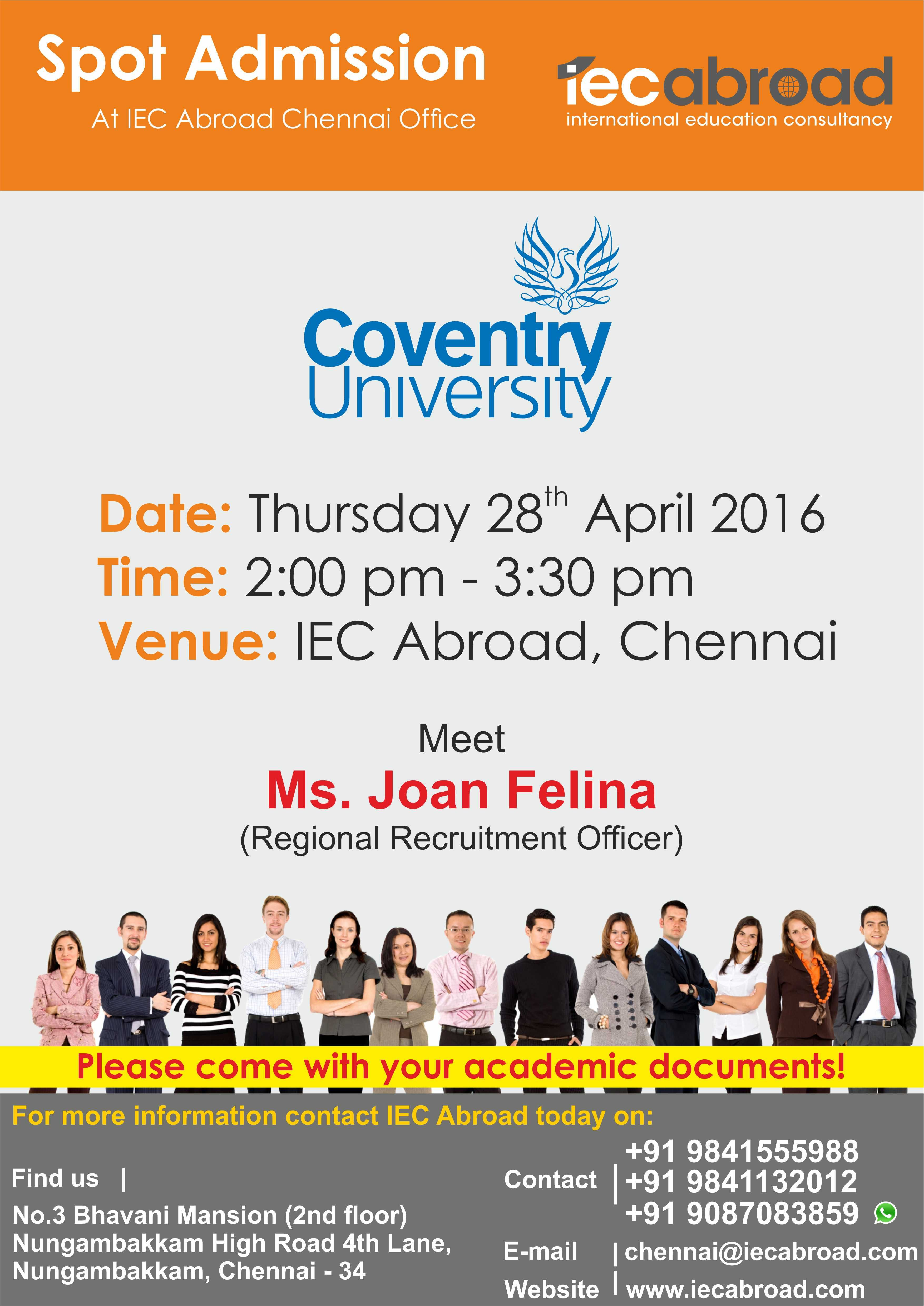 Spot Admission Coventry University ! Coventry university