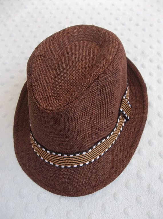 eecb6605df56b Toddler Fedora Hat Rust Brown Perfect for Fall by groovyapplique ...