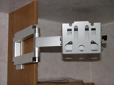 Articulating Arm Attached To Tv Cabinet Wall Rv Hacks