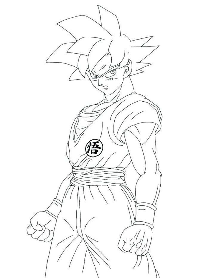 Dragon Ball Super Goku Coloring Pages In 2020 Dragon Ball Super Wallpapers Dragon Pictures Goku Drawing