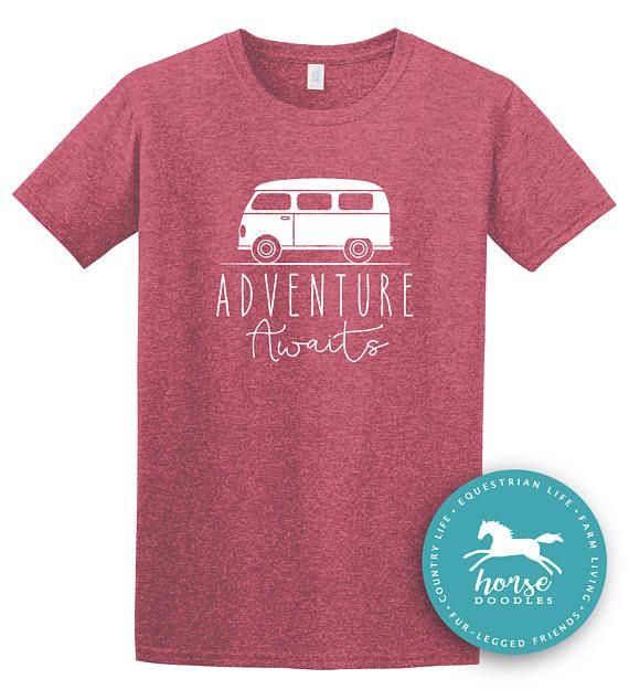 Adventure Awaits Mountain Shirt Hiking Shirt Summer VW