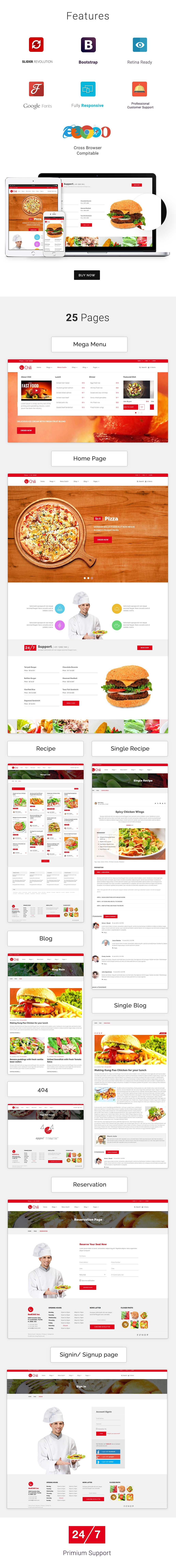 RedChili HTML5 Responsive Restaurent Template | Restaurant website ...
