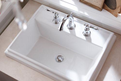 like the drop in sink too Reasonable price Tresham by Kohler