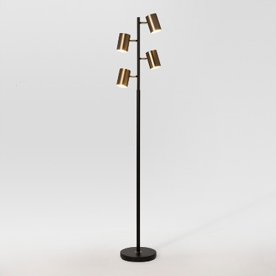Dean Spotlight Floor Lamp Black Brass Includes Energy Efficient Light Bulb Project 62 In