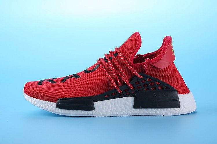 "b3d39c051eb57 Pharrell Williams X adidas NMD HUMAN RACE""Bright red"" S79161 Mens Size EUR39-45  UK5.5-10"