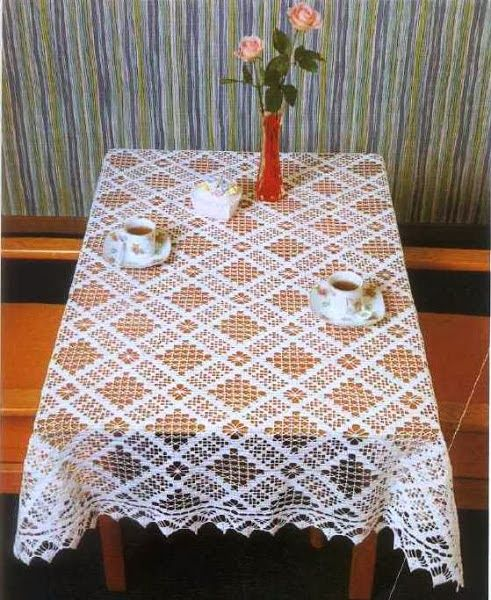 Crochet Tablecloths Square And Rectangular Tableclothes