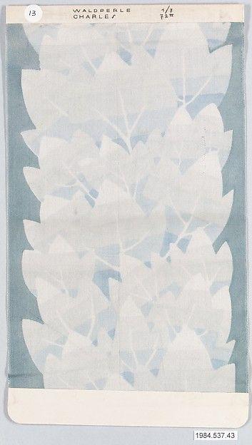 WALDPERLE-CHARLES, Designer: Dagobert Peche (Austrian, St. Michael im Lungau 1887–1923 Mödling bei Wien) Manufacturer: Wiener Werkstätte Date: 1922