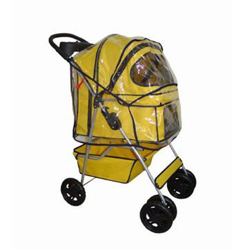 Yellow BestPet 4 Wheels Pet Dog Cat Stroller w/RainCover https://t.co/epIZ4aQO4H https://t.co/GSuf0qFuS7
