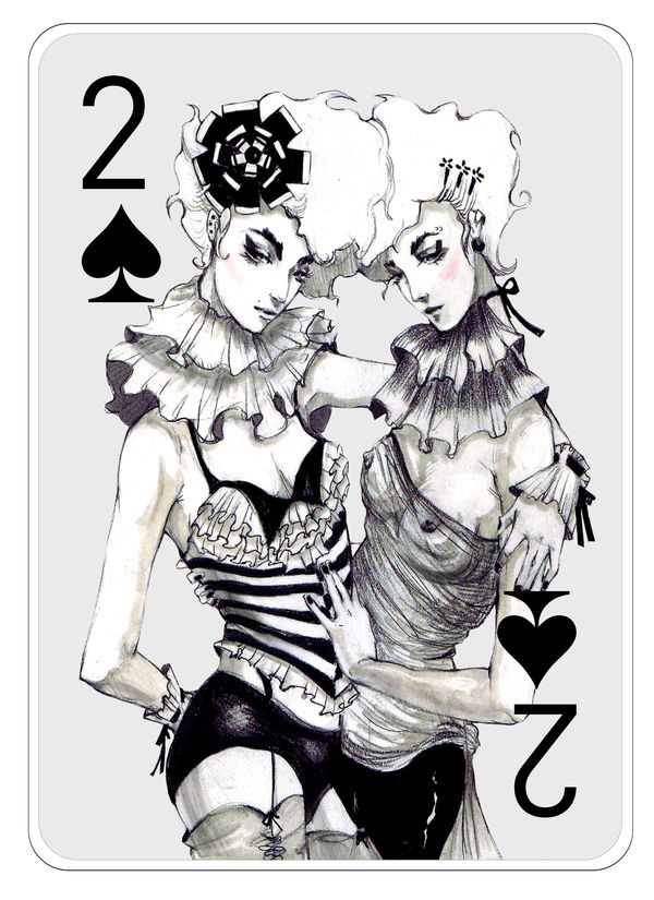 Fashion Playing Cards Part 2 by Connie Lim, via Behance