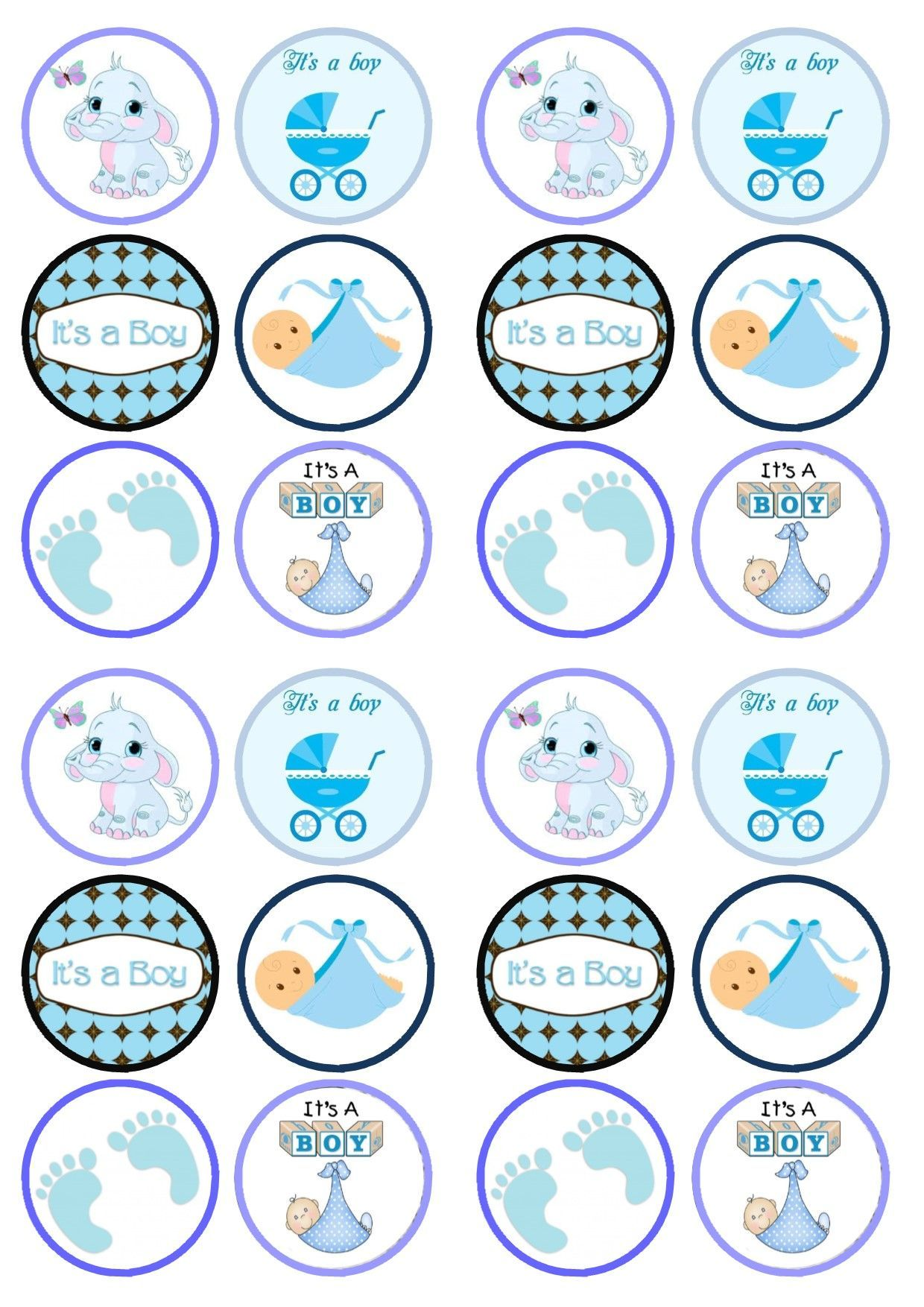 Cupcake toppers baby shower buscar con google beb y for Baby shower cupcake picks decoration