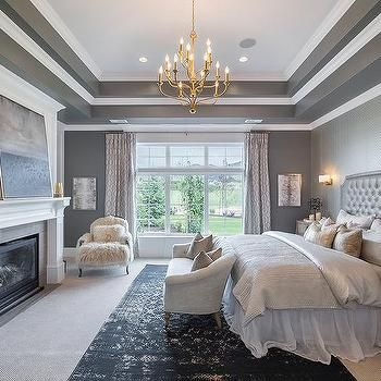 Bedroom Tray Ceilings Design Decor Photos Pictures Ideas Inspiration Paint Colors And Remodel Remodel Bedroom Grey Bedroom Design Master Bedroom Design
