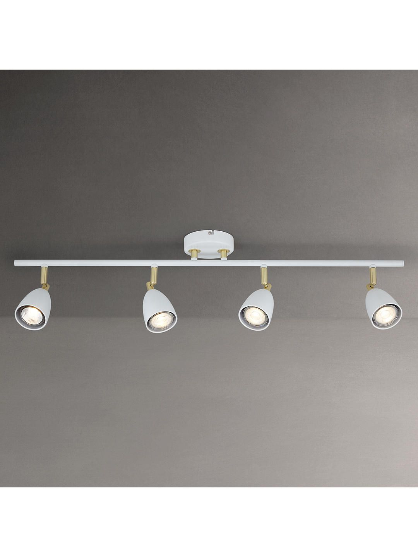 SEARCHLIGHT WHITE TRACK LIGHTING KIT SPOTLIGHTS 3 X 3 WATT LED GU10