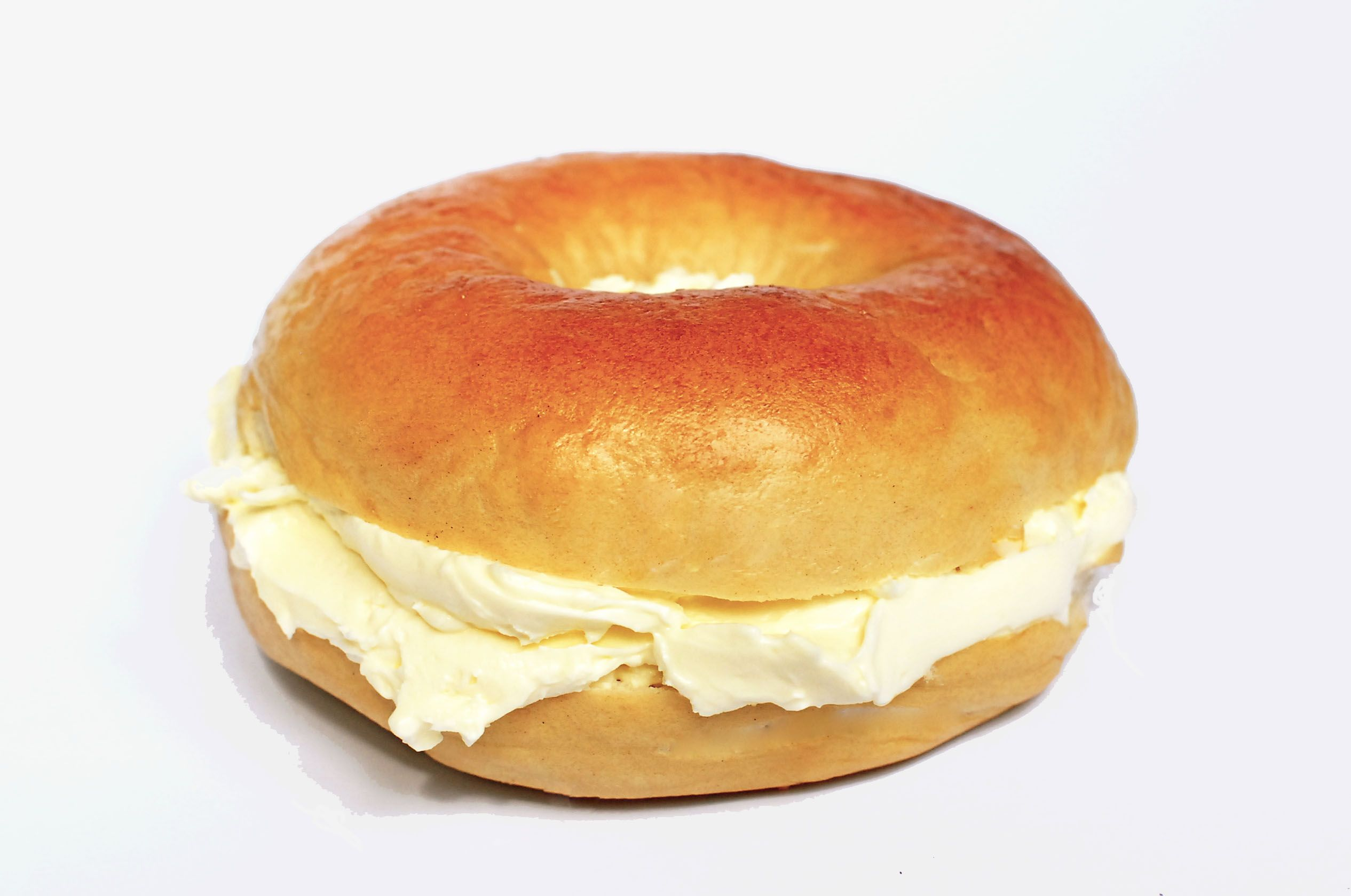 bagel with cream cheese is a good choice for a healthy breakfast