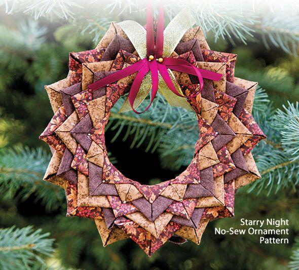 Starry Night No-Sew Ornament Pattern   Projects   Pinterest ...