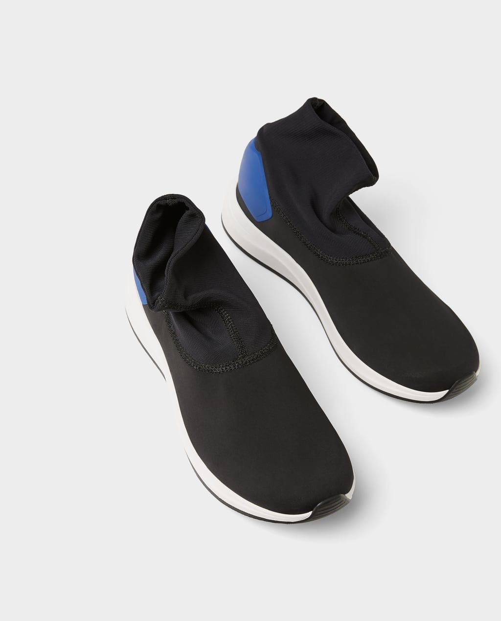 b6ed50242dc Image 5 of BLACK SOCK-STYLE HIGH-TOP SNEAKERS from Zara