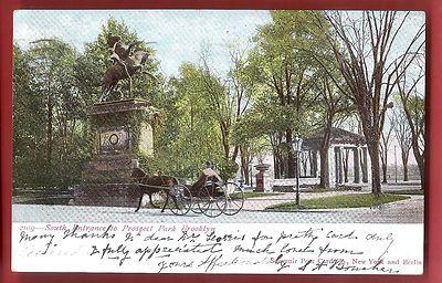 Postcard South Entrance Prospect Park 1906 Brooklyn New York City | eBay