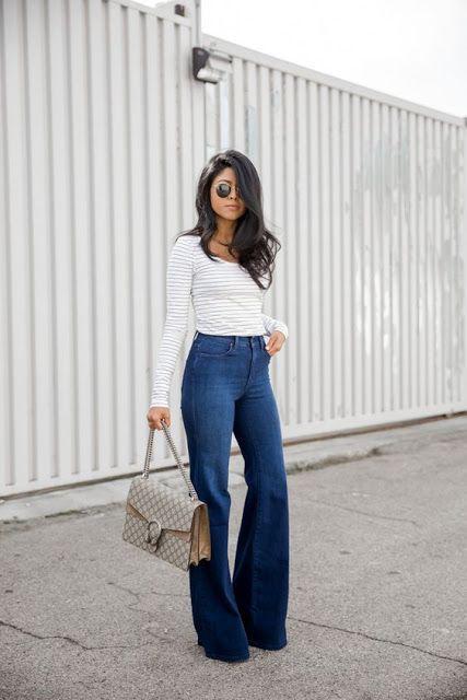 Calcas Jeans Femininas Flare Boca De Sino Cos Alto Barata