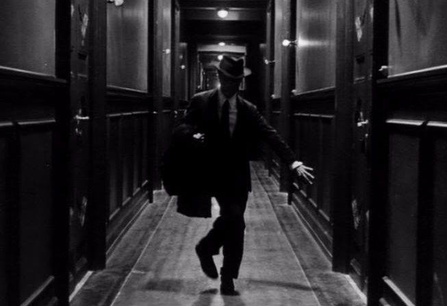 """Marcello Mastroianni in """"81/22 (1963, dir. Federico Fellini)"""
