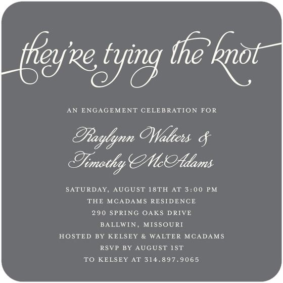 Signature white engagement party invitations timeless typography signature white engagement party invitations timeless typography by wedding paper divas stopboris Image collections