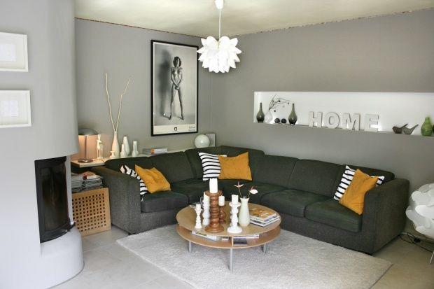AuBergewohnlich Wandgestaltung Wohnzimmer Grau #2