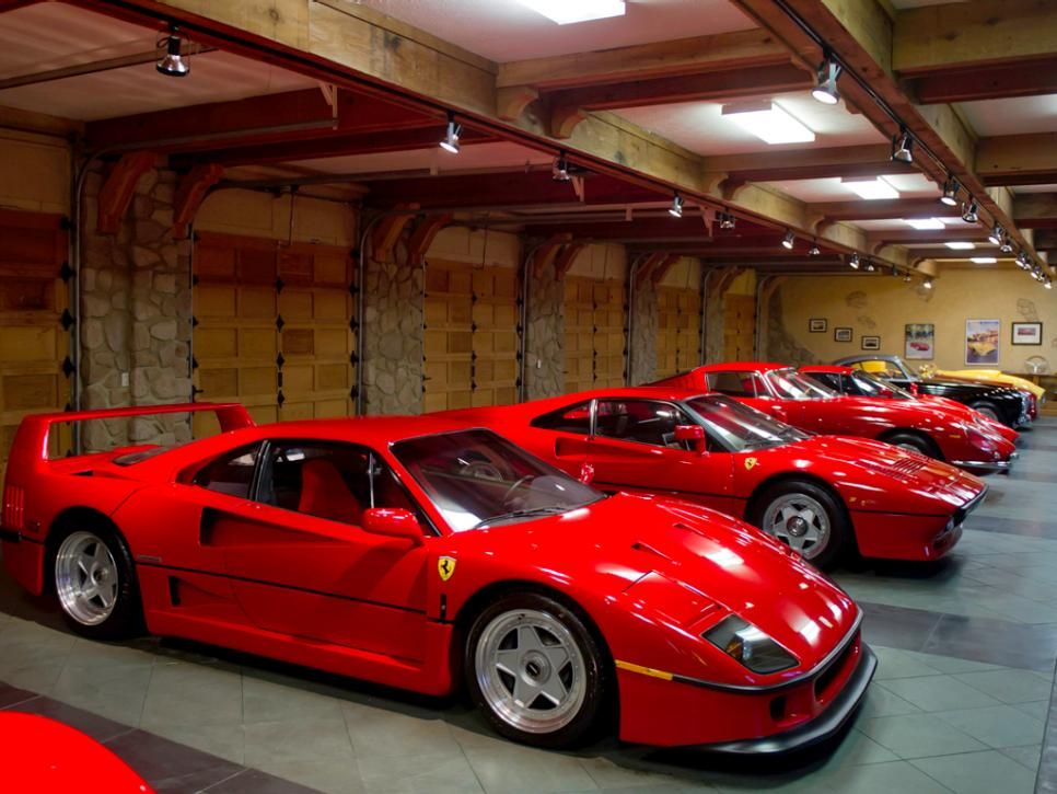 Of The Home S Two Climate Controlled Garages One Is Dedicated To A Collection Late Model And Vintage Ferraris Some More Than 60 Years Old