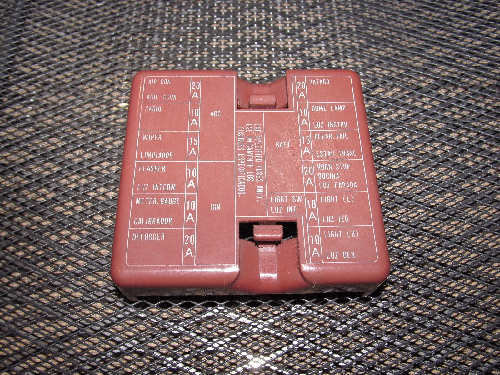 79 80 Datsun 280zx OEM Interior Fuse Box Cover