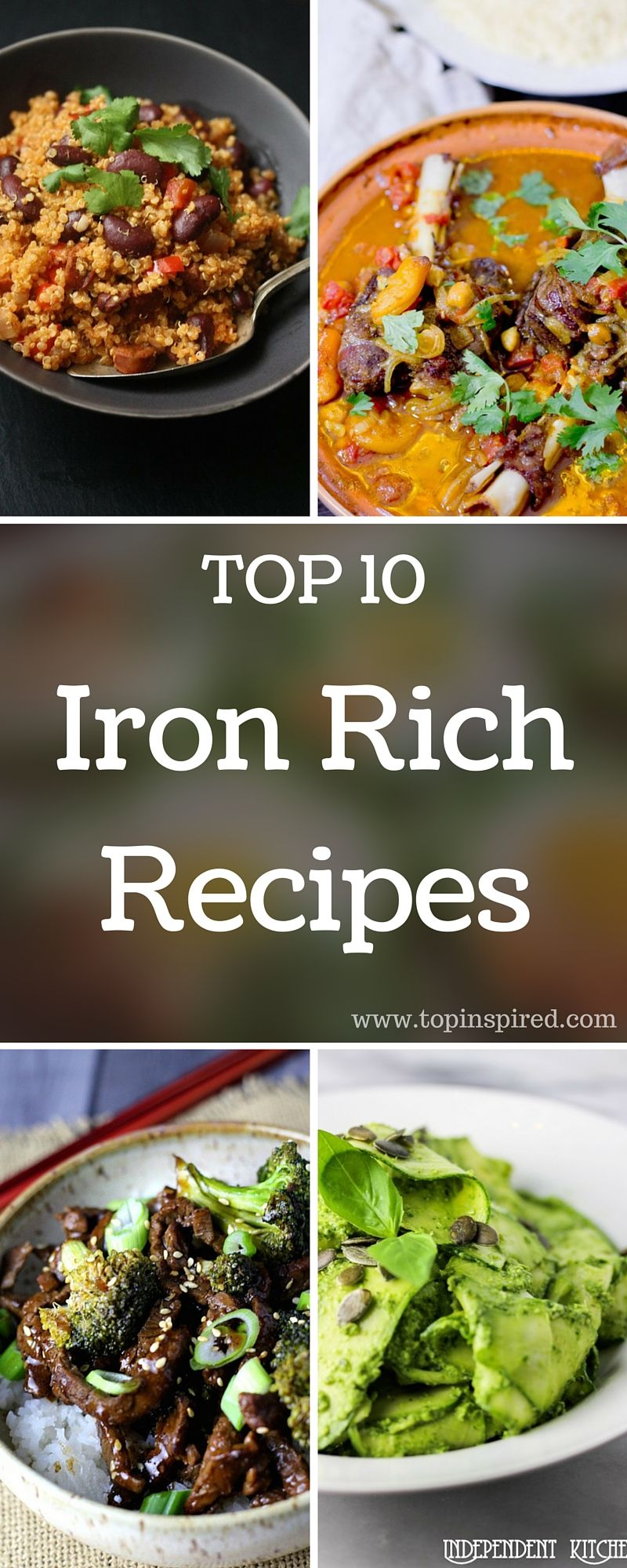 TOP 10 Iron Rich Recipes Iron rich foods, Food recipes