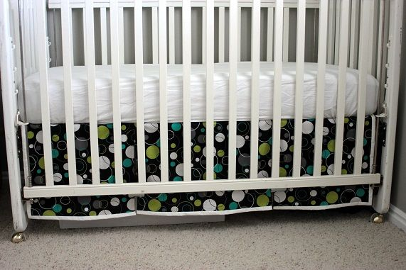 Crib Skirt Tutorial Separate Pieces Make It Easy To Attach With