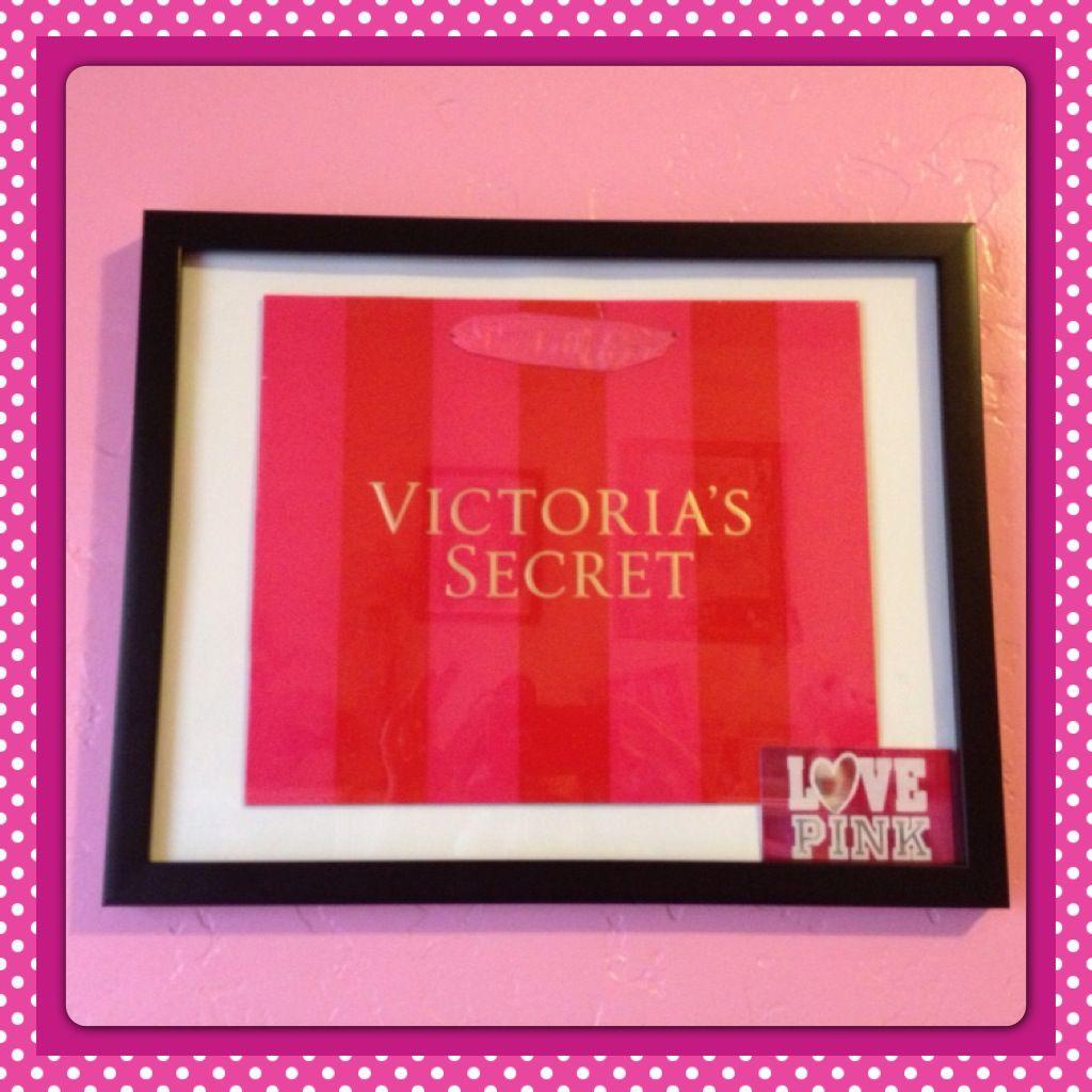 Diy Framed Victoria S Secret Shopping Bag Amp Pink Gift Card