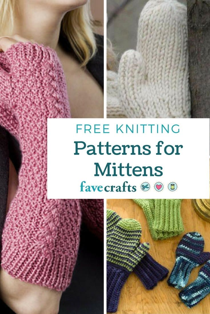 16 Free Knitting Patterns for Mittens   FaveCrafts.com ...