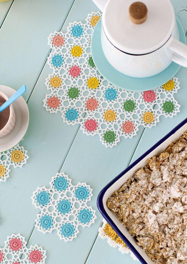 How to make crochet coasters   Crochet flowers pattern   Mollie ...