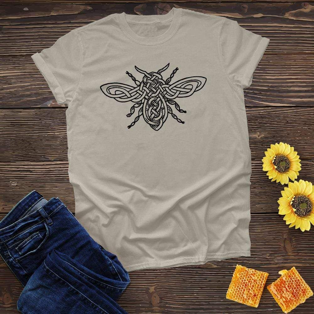 Celtic Honey Bee Tee Tees T Shirts For Women Cotton Tee