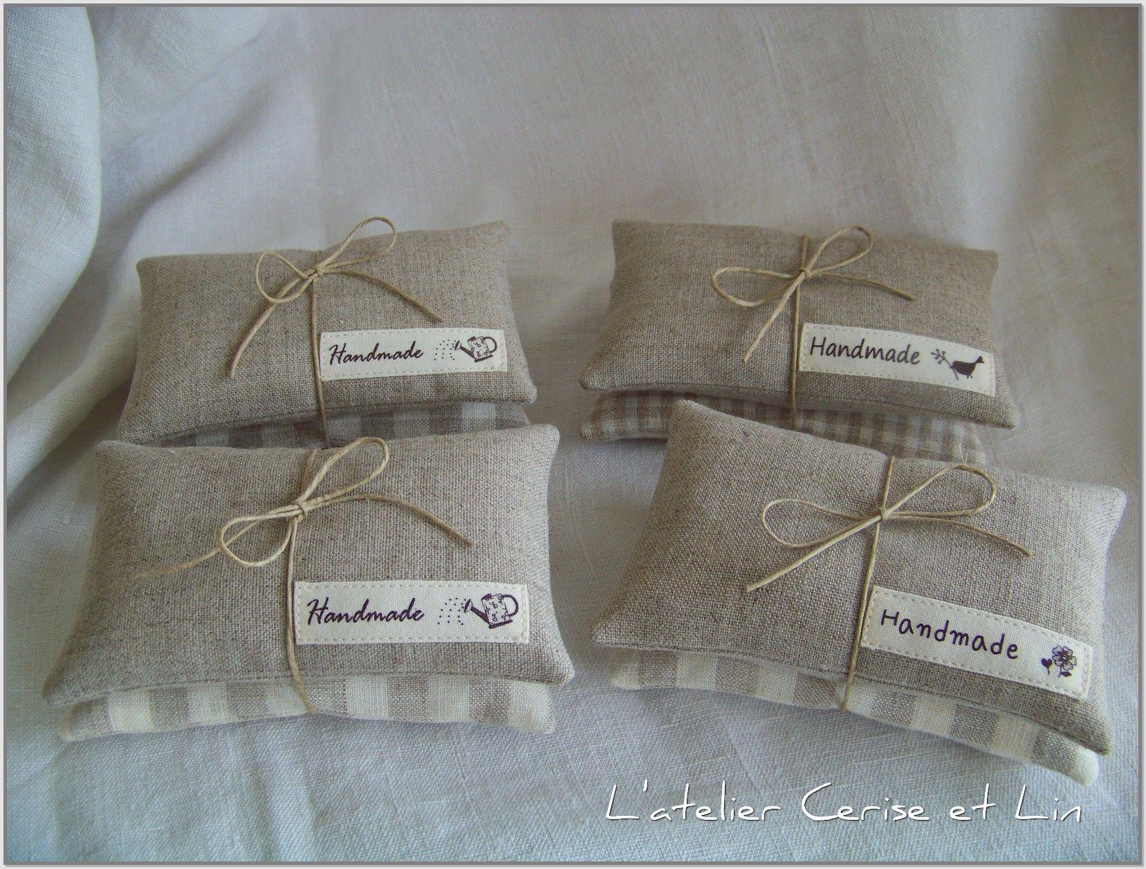 petits coussins lavande et lin szycie lavande sachets. Black Bedroom Furniture Sets. Home Design Ideas