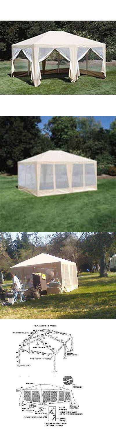 Details About 12x15ft Party Tent Gazebo Screen House Canopy Beige House Canopy Screen House Party Tent