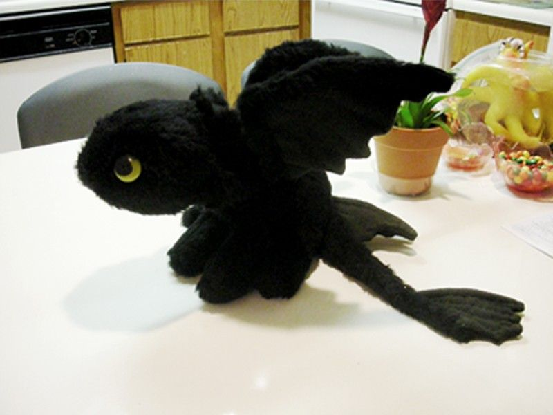 Night Fury Toothless Plush | and vintage marketplace. Toothless plush dragon . dragon crochet plush ...