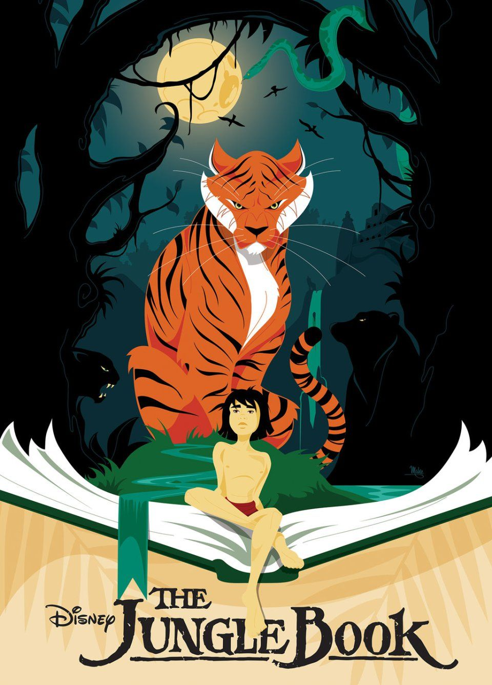The Jungle Book Fan Arts L B Jungle Book Disney Art Book Posters