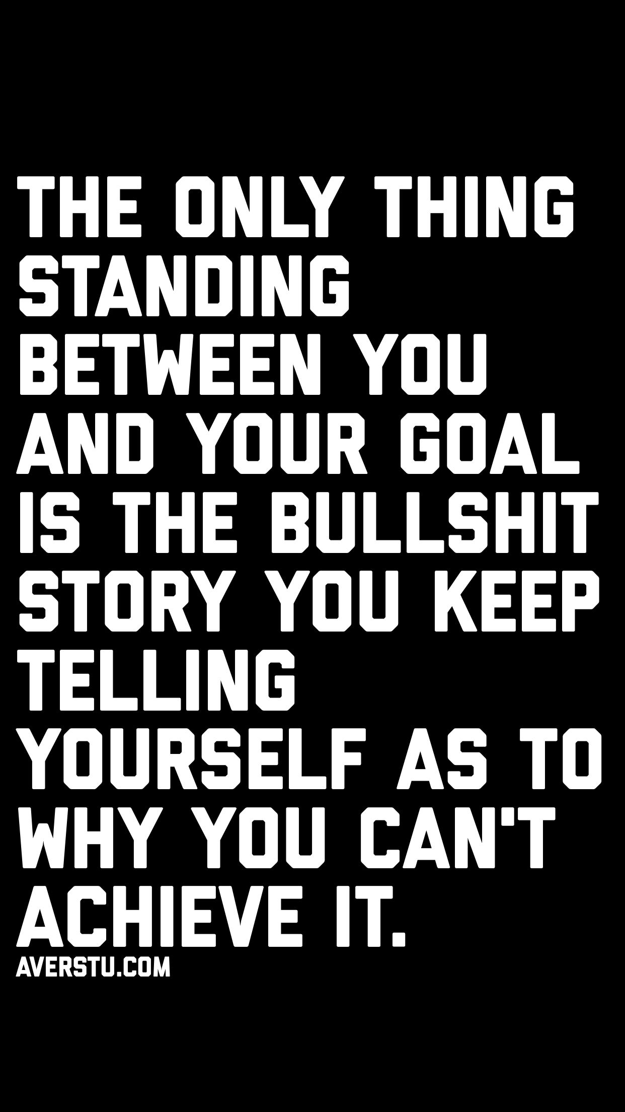 The Only Thing Standing Between You And Your Goal Is The Bullshit