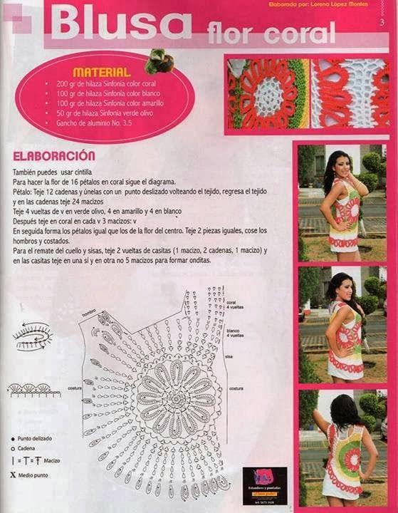Pin de Alicia González en tejidos | Pinterest | Ganchillo, Blusas y ...