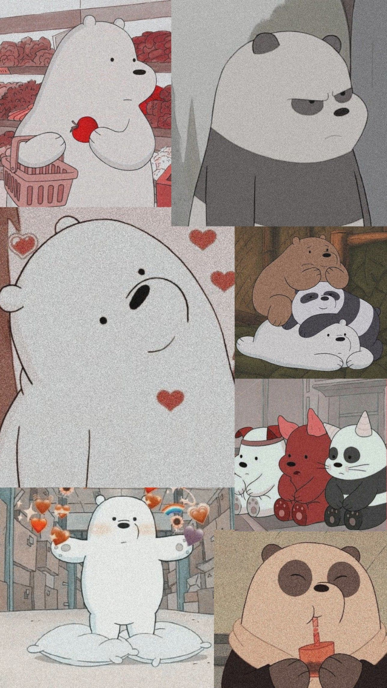 Images By Alexis Talosig On Wallpaper | Bear Wallpaper, We Bare Bears Wallpapers, Iphone Wallpaper Girly 090