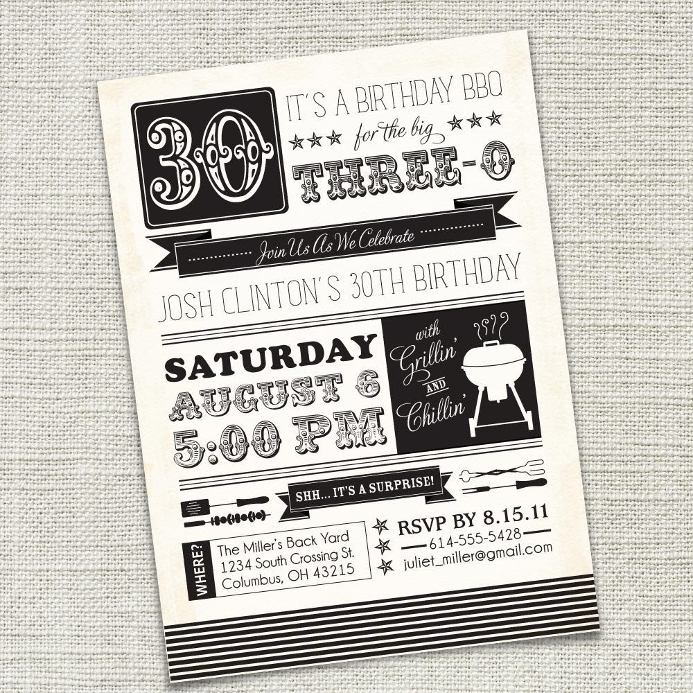 Birthday party invitation 30th 40th 50th 60th by cadencepaige birthday party invitation 30th 40th 50th 60th by cadencepaige 1850 via etsy monicamarmolfo Images