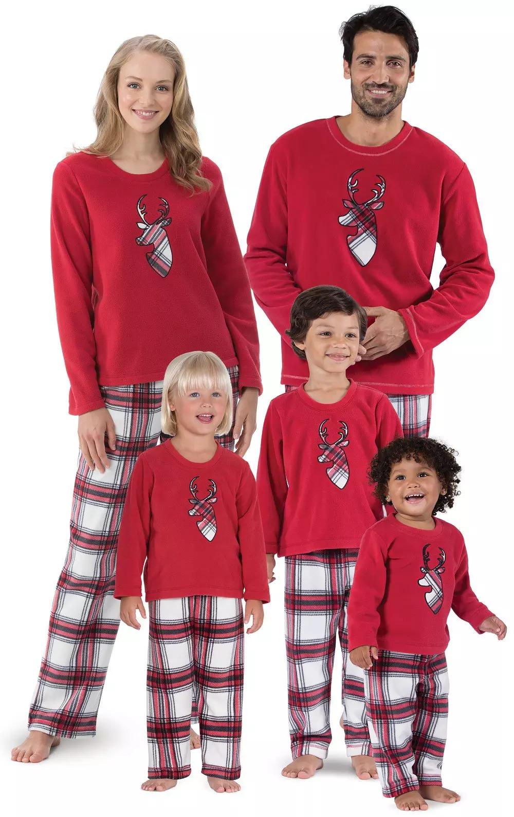 Fireside Plaid Fleece Matching Family Pajamas Matching