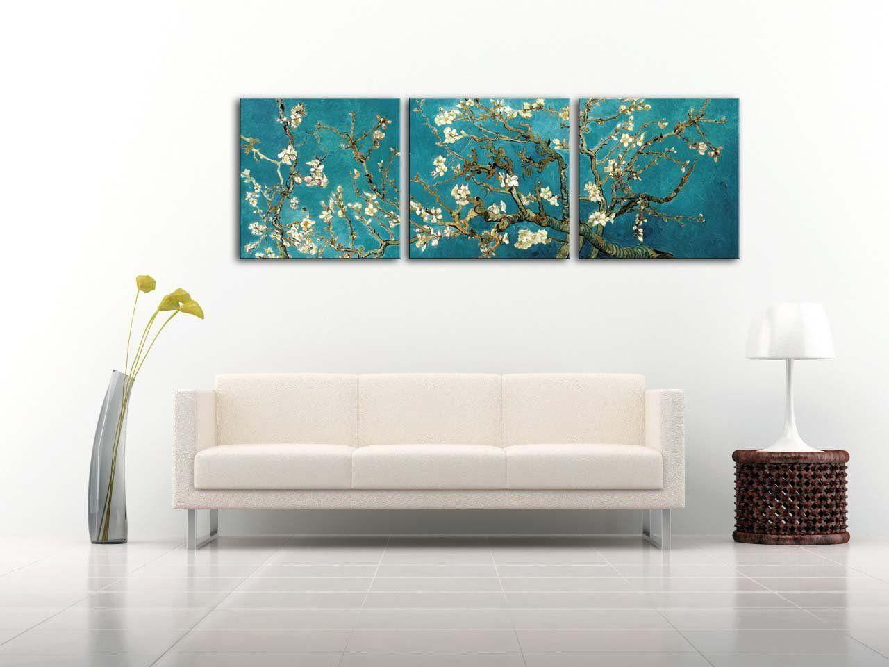 Malerei Fur Dekoration Von Haus Leinwand Malerei Van Gogh Zweige Eines Klassischen Van Gogh Motiv Mandelbaum In Der Blute 1890 Das Arts Glas 3 Teili Haus Deko