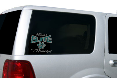 Custom Rhinestone Decals Any Logos And Or Lettering For Your Teams - Custom car bling decals