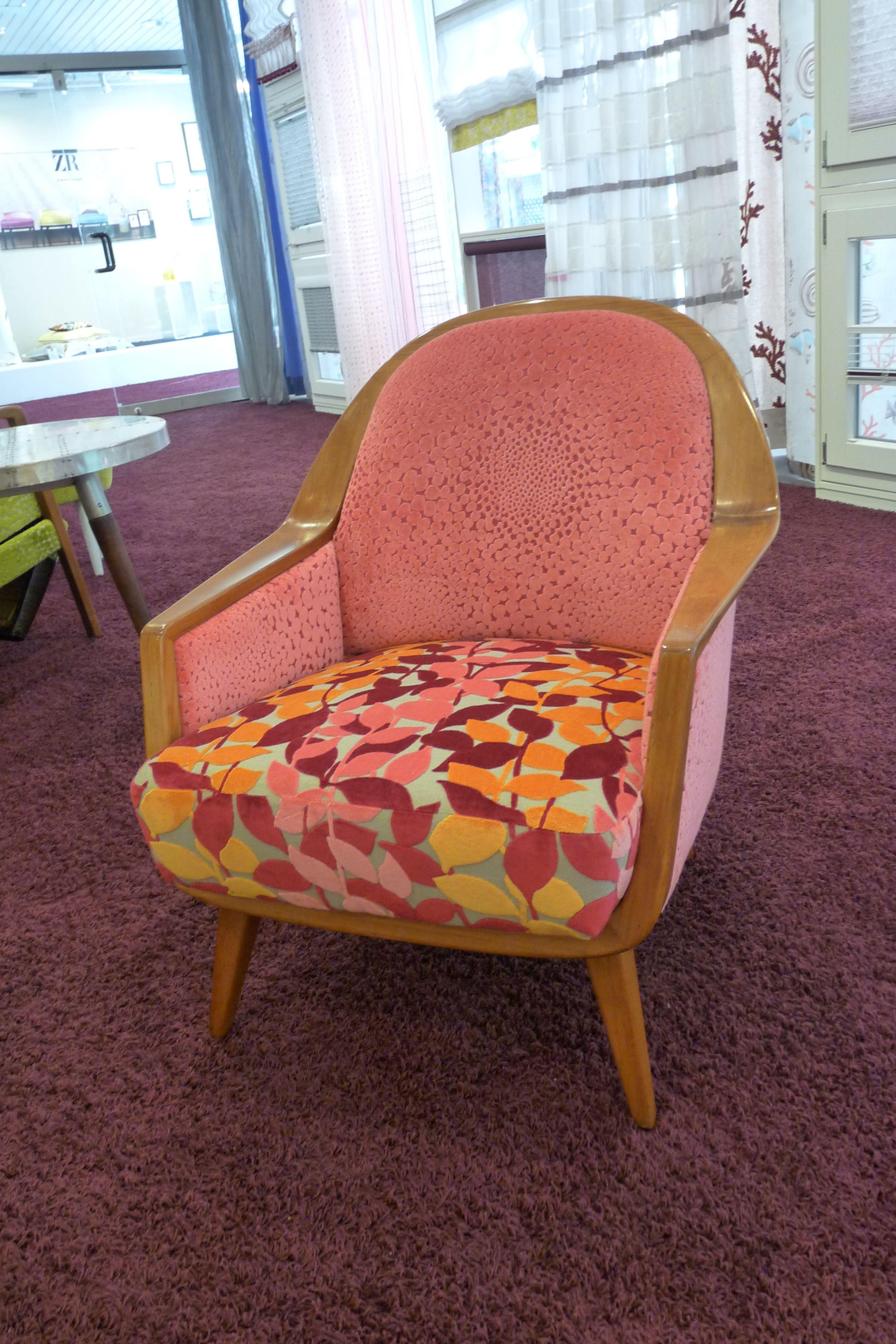 Sessel Neu Bezogen Mit Einem Bezugsstoff Von Romo Polsterei
