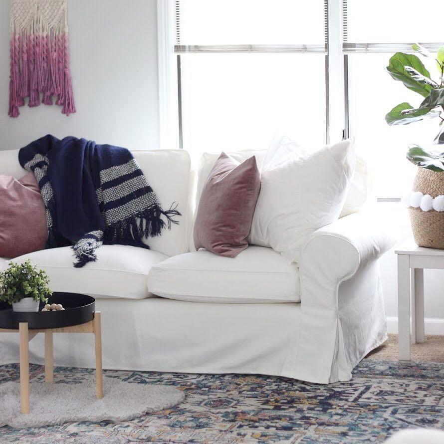 boho farmhouse modern living room ikea ektorp sectional