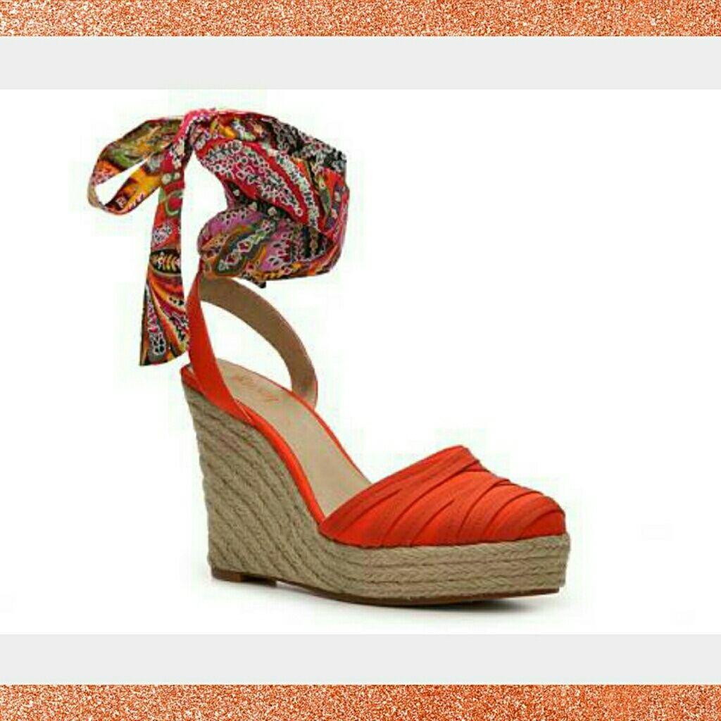 Levity Shoes   Levity Sierra Wedge Sandal   Color: Orange