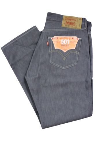 d0d3b3c1 LEVIS JEANS 501 Classic Straight Shrink to Fit Grey Rigid Denim Pants Size  30/32