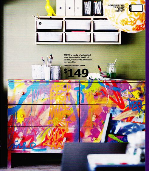 natural color wood dresser from IKEA... paint it at home idea! LOVEE